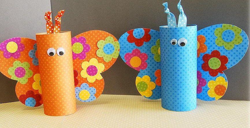 M s de 20 manualidades con rollos de papel higi nico animales tutoriales noel 39 s crafts - Manualidades con papel craft ...