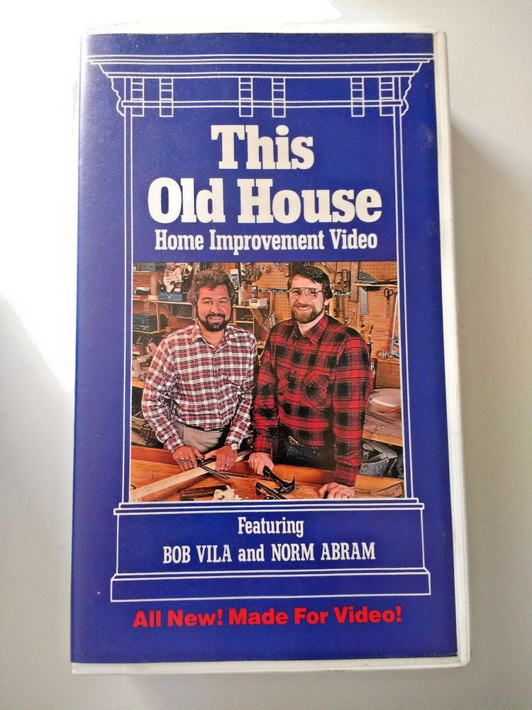 Vintage This Old House With Bob Vila Norm Abram Vhs Original