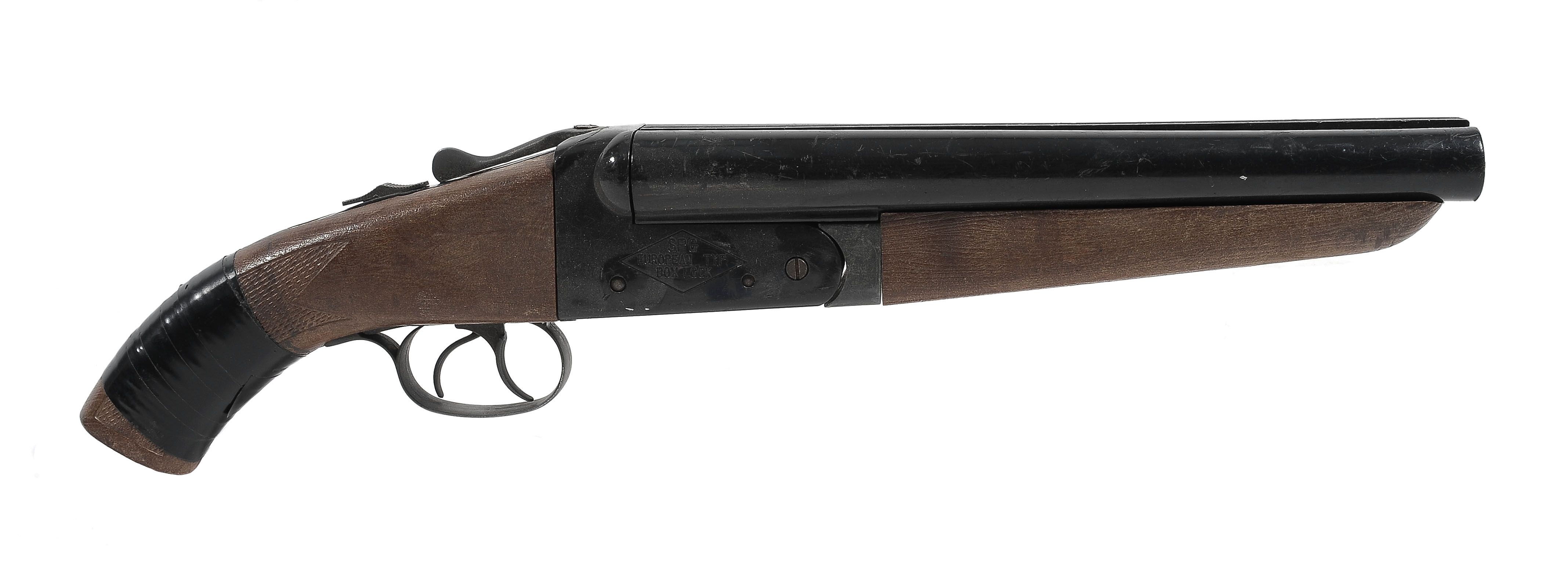 A double-barreled shotgun is a shotgun with two parallel barrels, allowing two shots to be fired in quick succession. Description from pixgood.com. I searched for this on bing.com/images