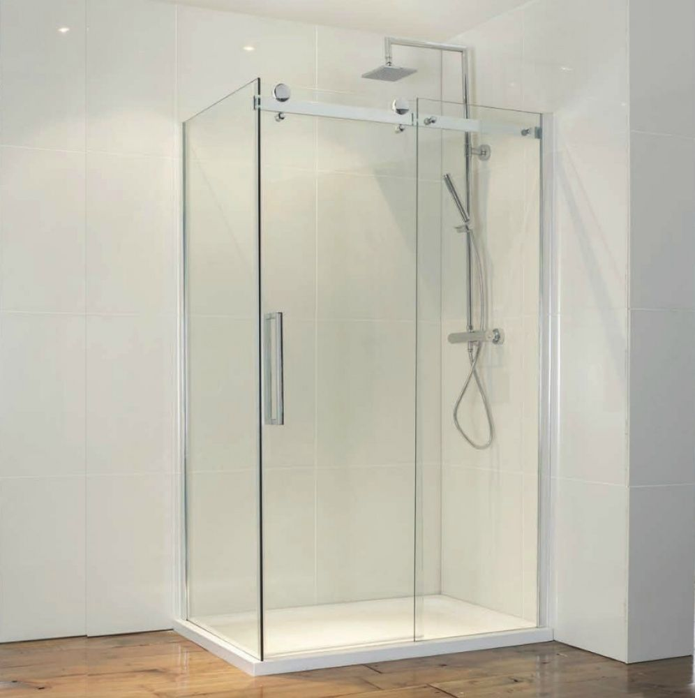 Frontline aquaglass frameless sliding door shower enclosure | Shower ...