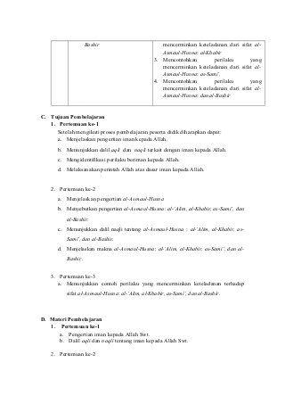 Rpp Pai Kelas 7 Semester 1 Pai Semester Person
