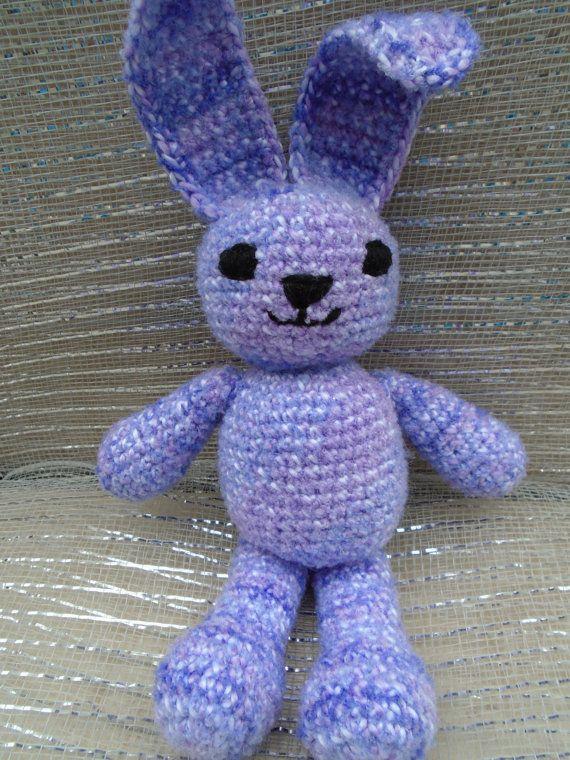 Handmade crochet purple bunny rattle easter bunny easter gift for handmade crochet purple bunny rattle easter bunny easter gift for baby negle Gallery