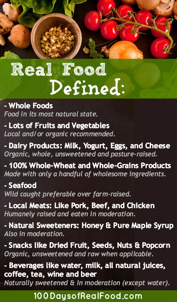 Real Food Defined (The Rules) Real food recipes, Whole