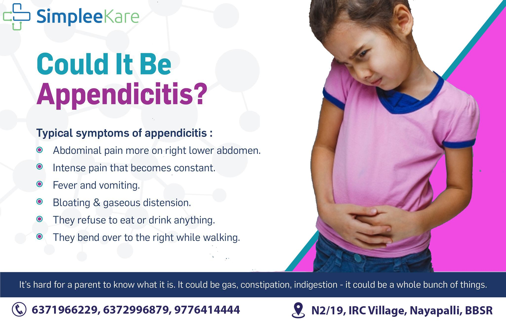 he symptoms of appendicitis can be very different in