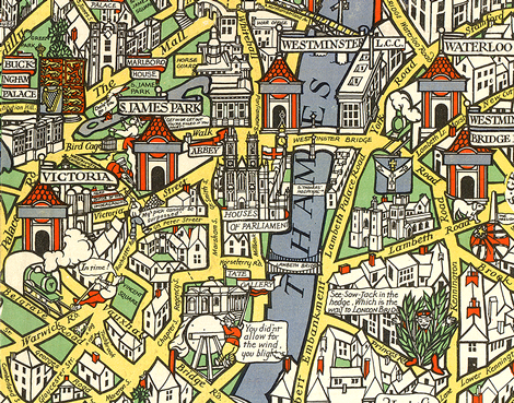 London Town Map.The Wonderground Map Of London Town Macdonald Gill 1913 Maps