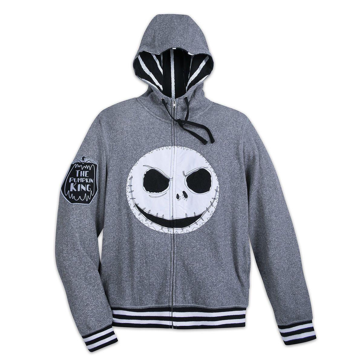 87a06972012e3 Jack Skellington Fleece Zip Hoodie for Adults - Nightmare Before Christmas
