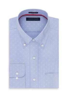 Tommy Hilfiger Ice Non Iron  ular Fit Dress Shirt