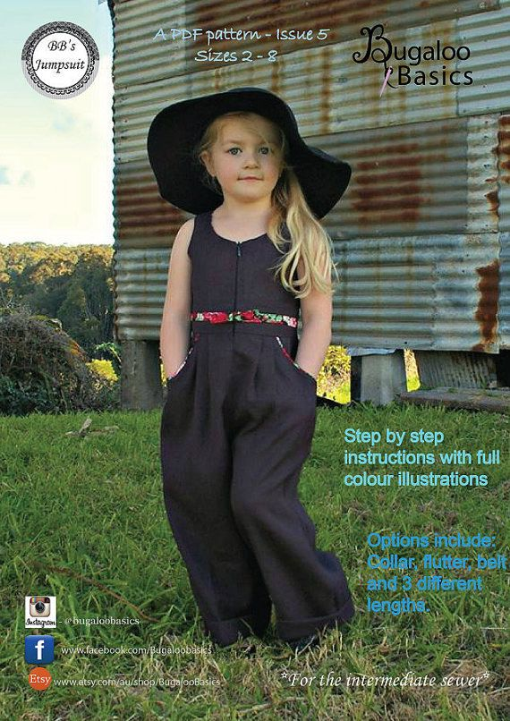 fc27975ea79b Make your own stunning jumpsuit for your little girl with this digital pdf  sewing pattern. This gorgeous design is perfect for all seasons. Lovely