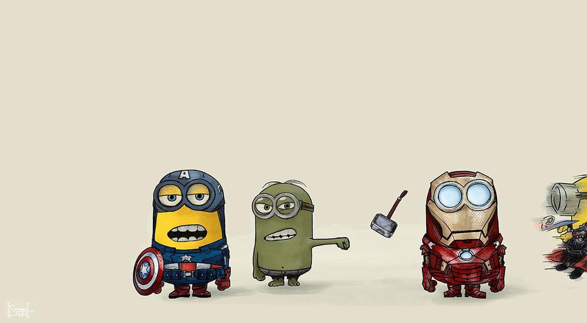 Despicable Me Avengers Wallpaper