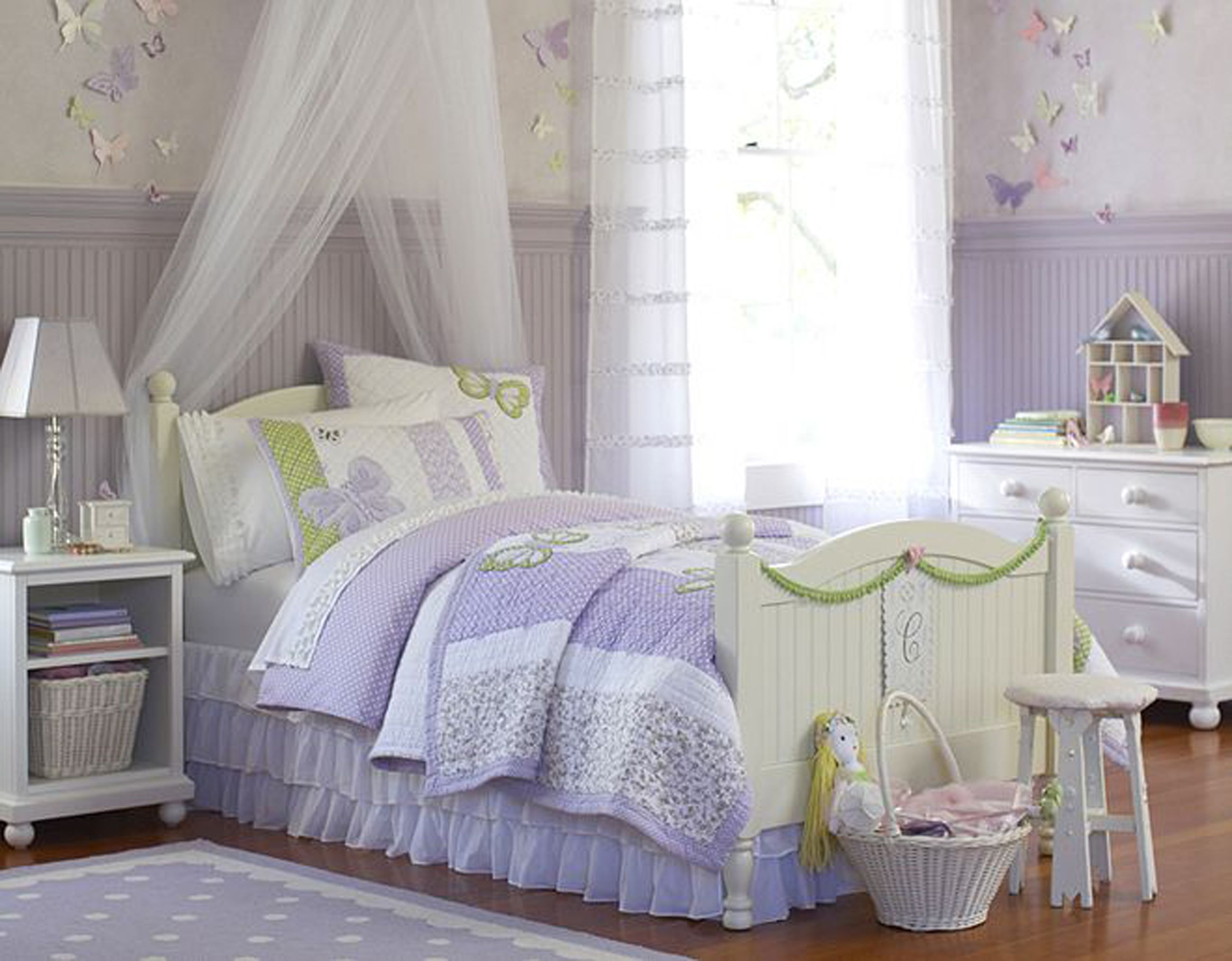 Lavender Bedroom Adorable Purple Bedroom Design With Wooden Floor And White