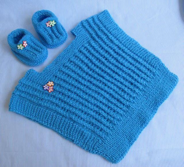 Agulhas e Pinceis: Coletinho e sapatinho de tricô para bebê - COM ...