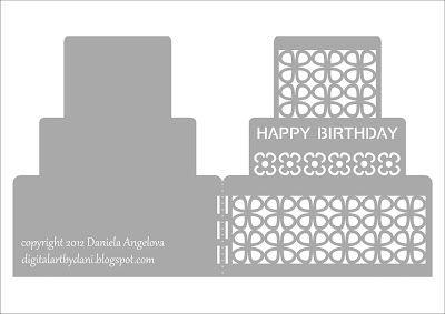 Download SVG: HAPPY BIRTHDAY card by Daniela Angelova | Cricut ...