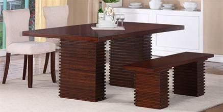 Enjoyable Hightower Transitional Mahogany Wood Dining Table Machost Co Dining Chair Design Ideas Machostcouk