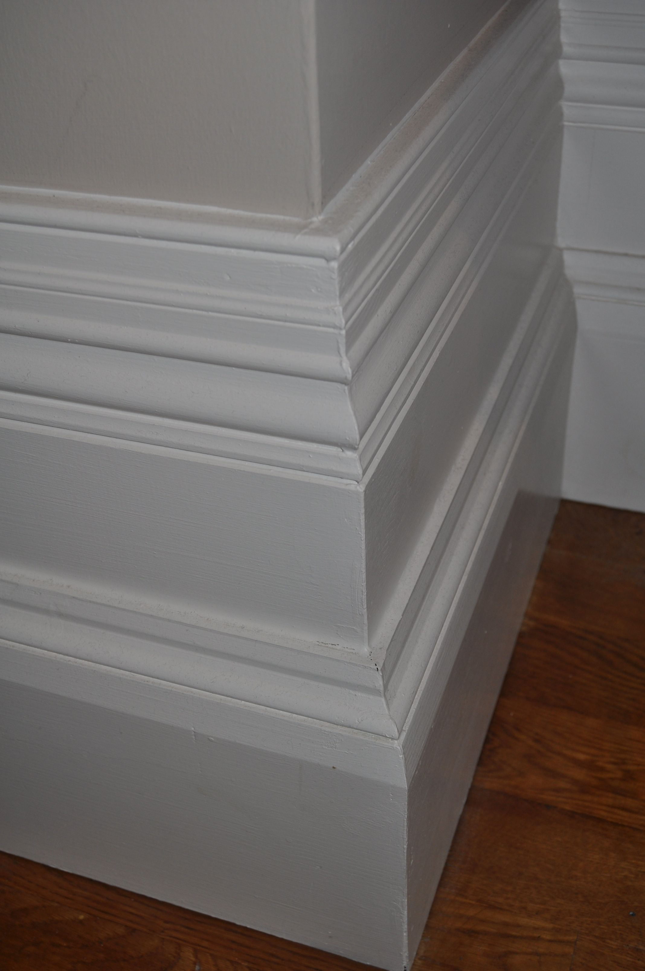 Extended Victorian Stepped Skirting Board Corridor