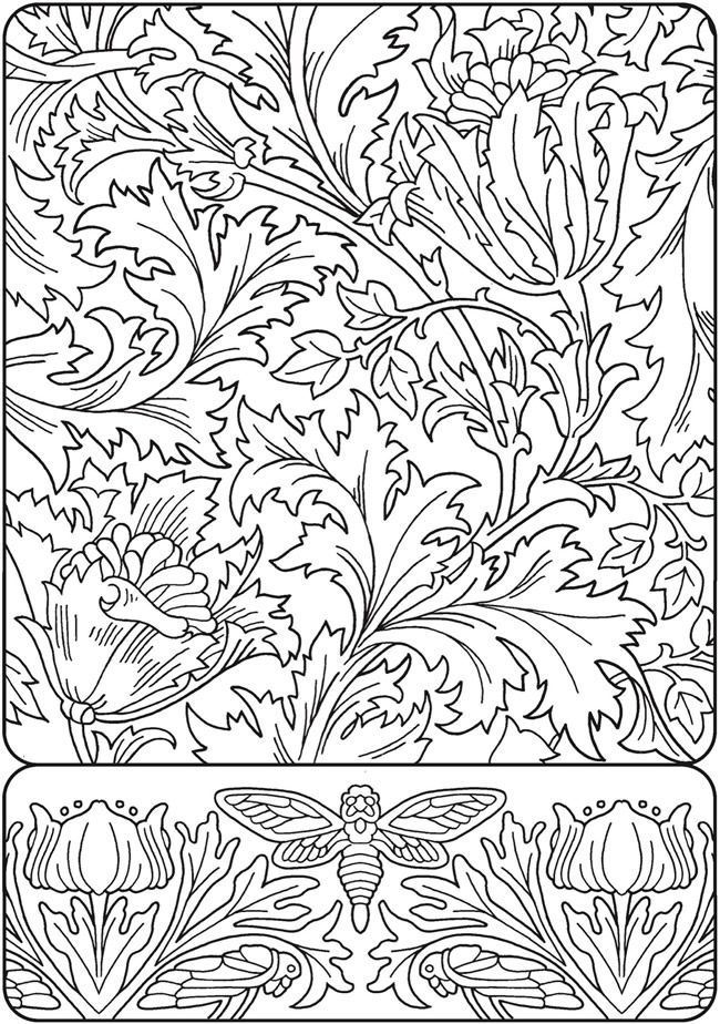 Free printable coloring page from Dover Publications Coloring