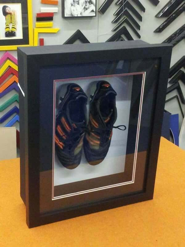 b236d37f8 Framed cleats - great memento from a winning season!