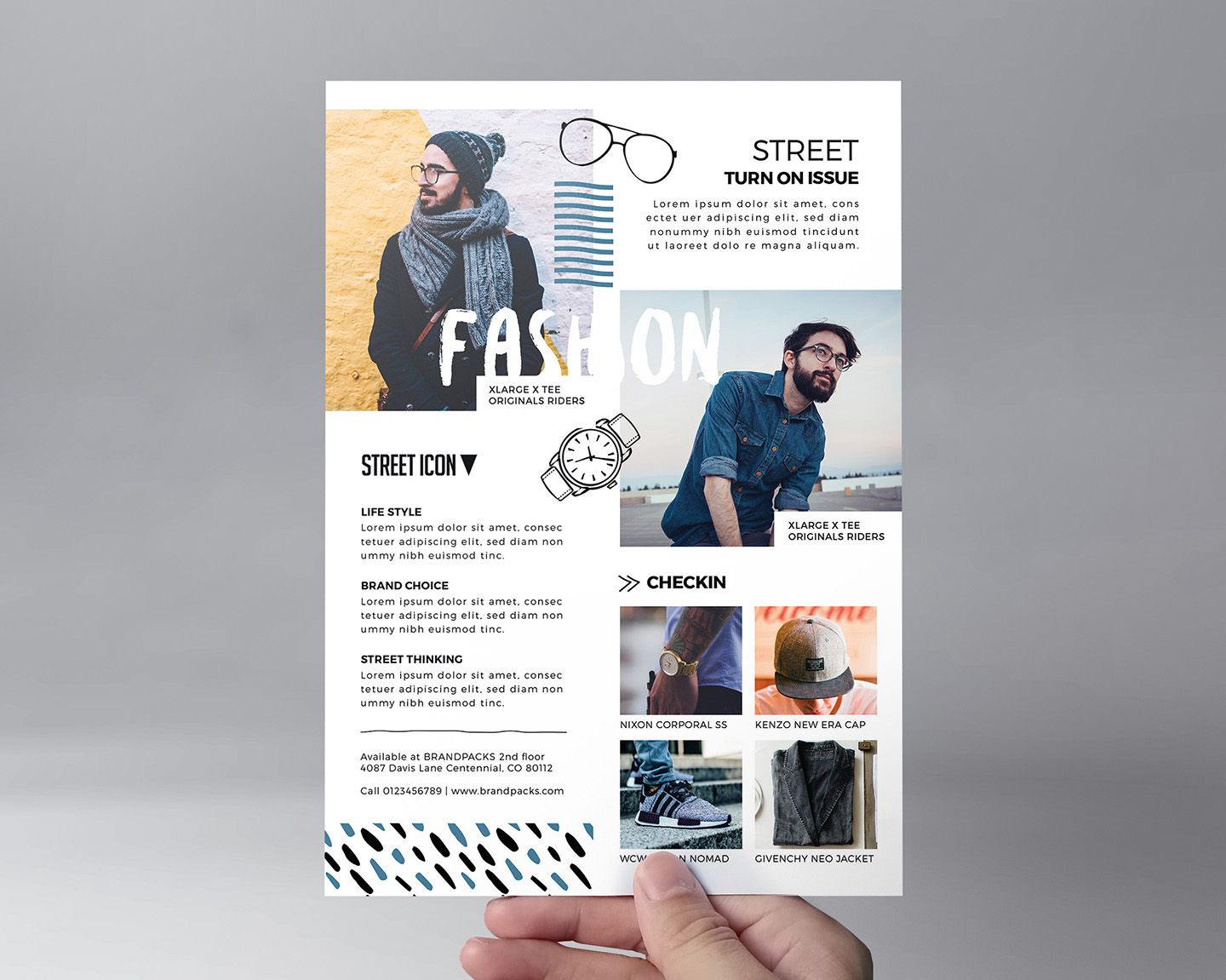 Free Fashion Flyer Template For Photoshop Illustrator