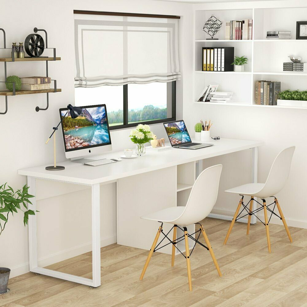 78 Double Computer Desk Study Table Writing Desk For Home Office With Storage Affilink Desk Writingtable Home Office Design Home Home Office Organization