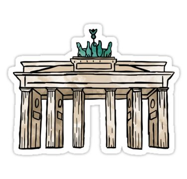 Berlin Brandenburg Gate Sticker By Aterkaderk In 2020 Retro Travel Poster Brandenburg Gate Homemade Stickers