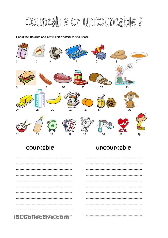 quantifiers | Countable & Uncountable Nouns & Quantifiers | Pinterest