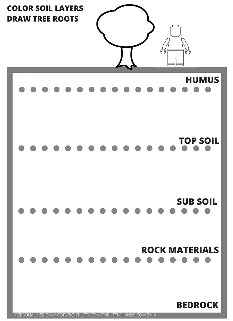 worksheet Soil Layers Worksheet lego earth science coloring pages day activities legos soil layers page free printable