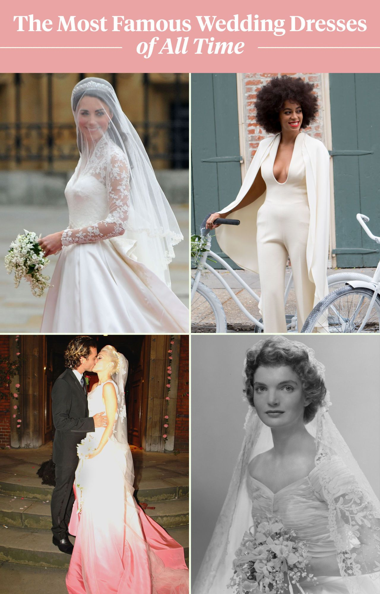 See The 100 Most Famous Wedding Dresses Of All Time In 1 Glorious Chart Famous Wedding Dresses Wedding Dress Styles Chart Wedding Dresses Unique [ 2000 x 1280 Pixel ]