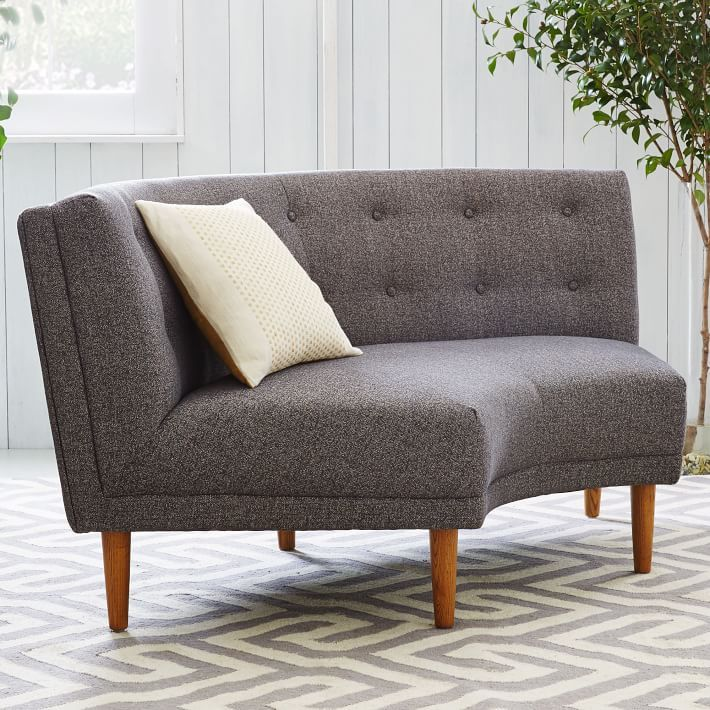 Great Rounded Retro Curved Sofa | West Elm Hmmm....wonder How 3 Or