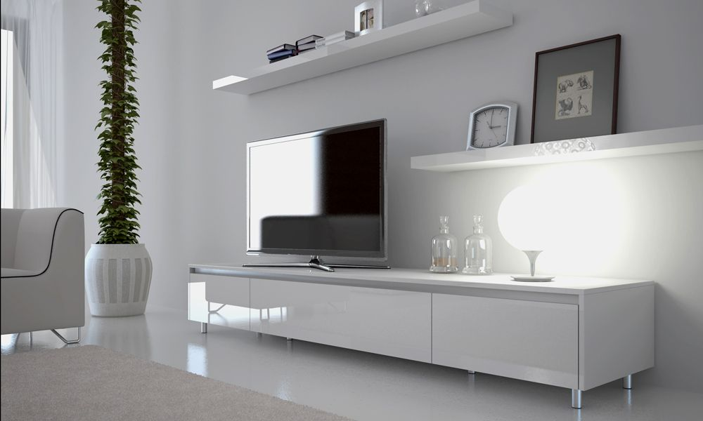 White entertainment unit simple elegant however need for Elegant wall units