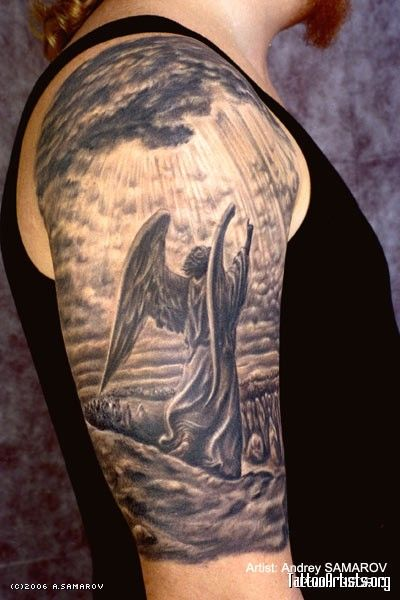 26c0300cd man angel tattoo | Tattoo | Guardian angel tattoo, Angel tattoo men ...