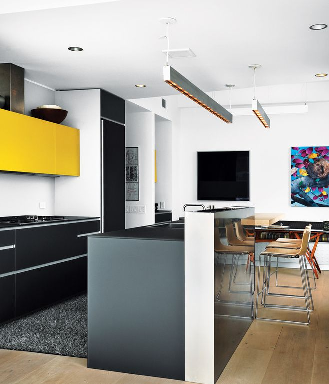 Their kitchen features an Artematica Vitrum glass system from ...