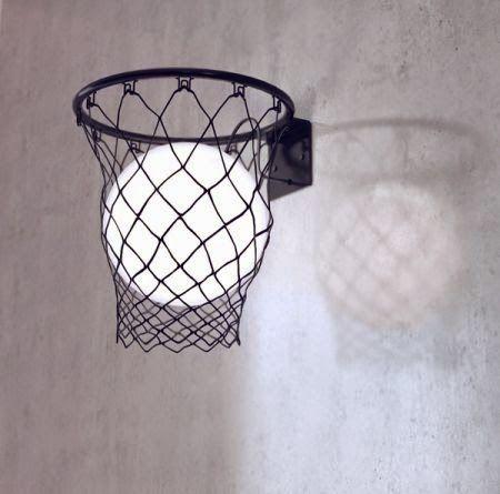 Lampe ronde dans un panier de basket d co diy d co diy for Panier basket chambre