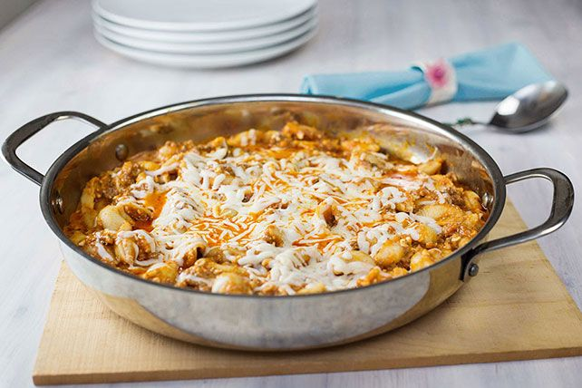 Photo of No need to stuff the pasta shells in this easy inside-out ve…
