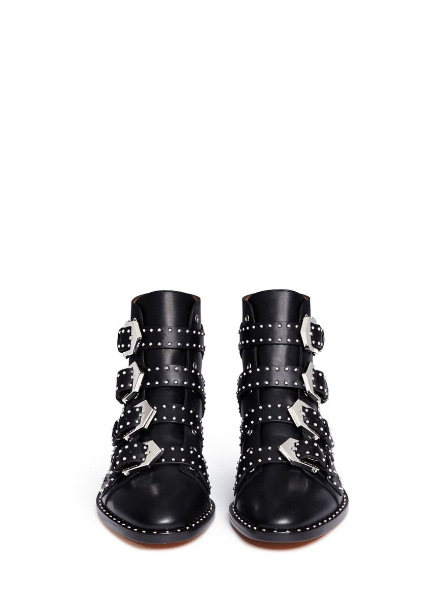 Givenchy Studded Leather Ankle Boots in Black  d64b6e5733