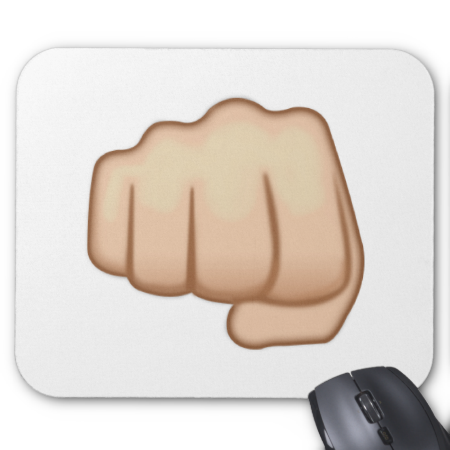 Fisted Hand Sign Emoji Emoji Fist Signs