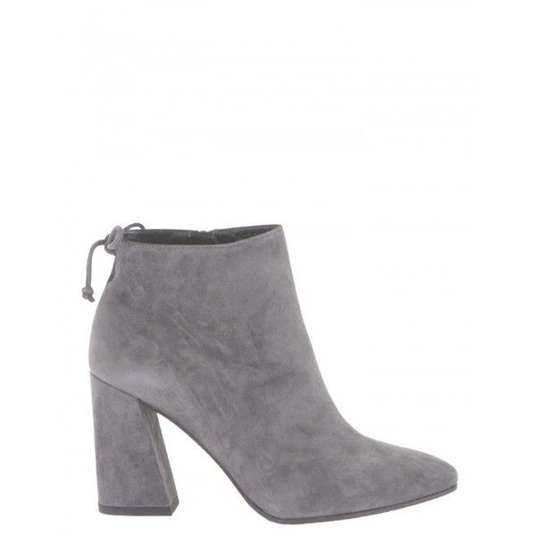Stuart Weitzman Boots ($460) ❤ liked on Polyvore featuring shoes, boots, ankle booties, grey, ankle high boots, suede boots, grey ankle boots, suede ankle boots and grey booties