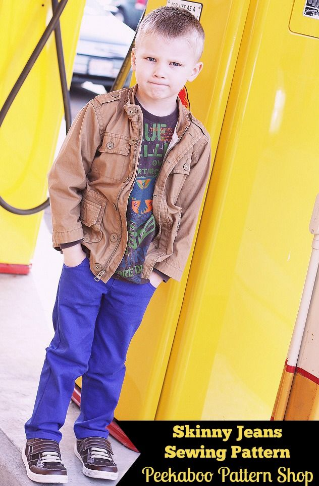 Skinny Jeans | Boy Peekaboo Patterns | Pinterest | Jungs