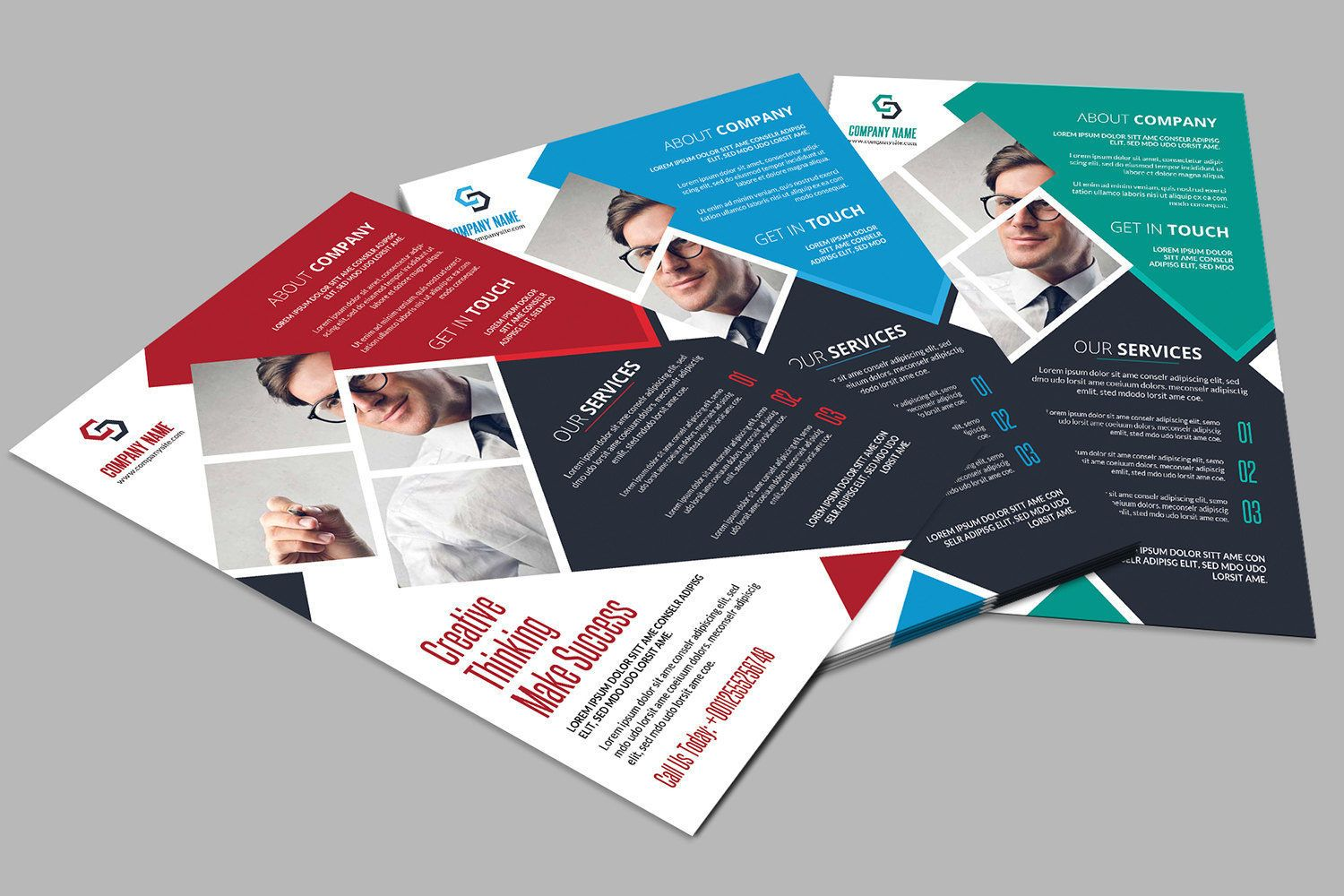Corporate flyer template 3 color business flyer template corporate flyer template 3 color business flyer template photoshop and ms word template instant download wajeb Images