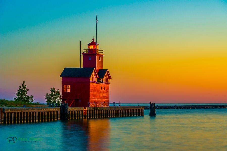 Holland Lighthouse Big Red Holland Lighthouse Big