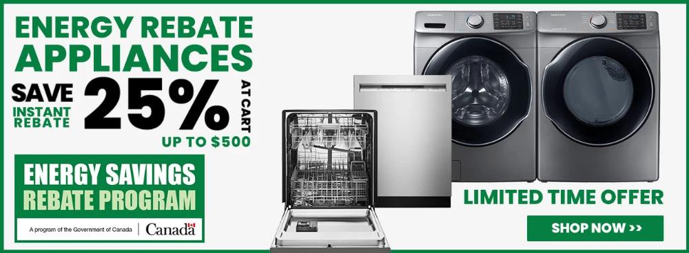 Enjoy At 25 Instant Rebate On Qualifying Energy Star Appliances Save Energy Energy Star Appliances Rebates