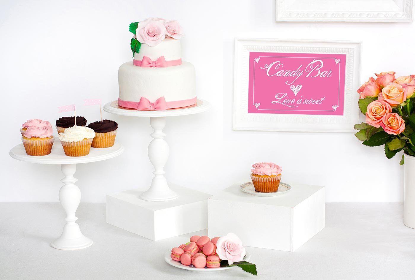 Candy Bar Schild ausdrucken