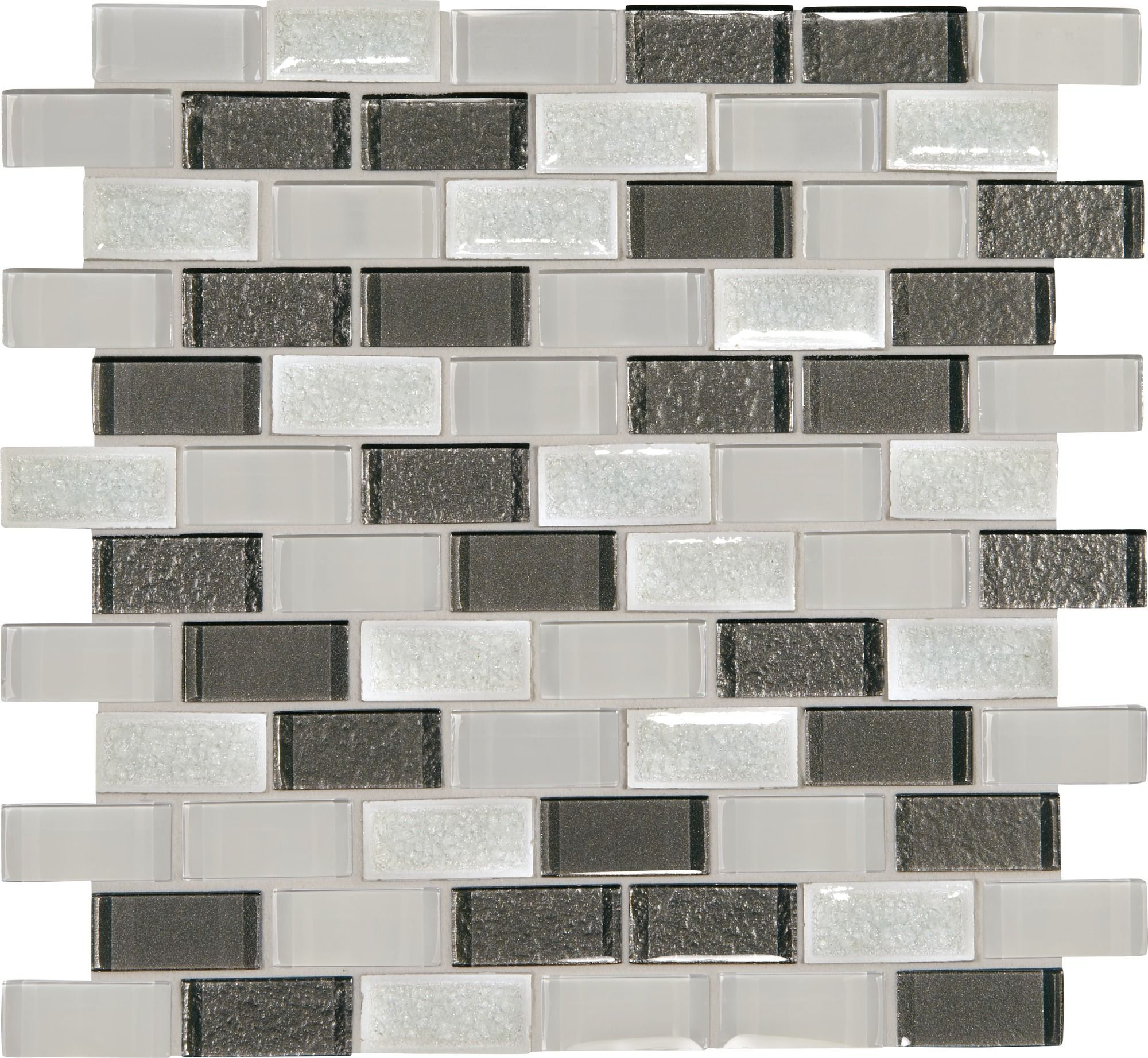 Crystal Shores Delta Diamond 12x13 Brick Joint Blended Mosaic