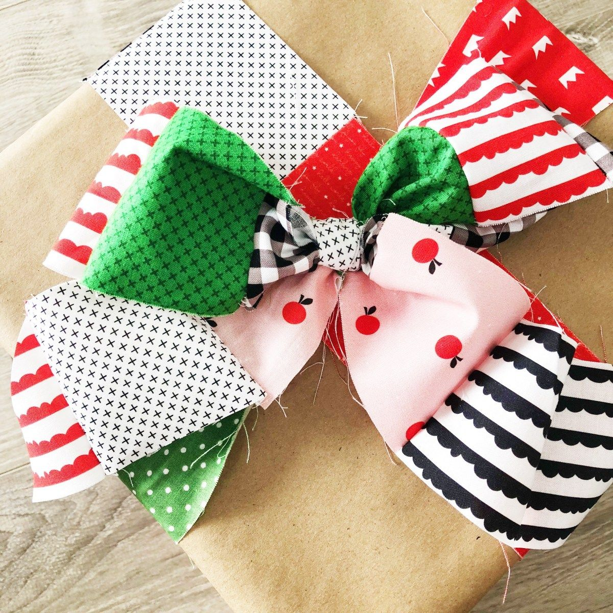 Christmas in july 2019 week 1 using fabric scraps to