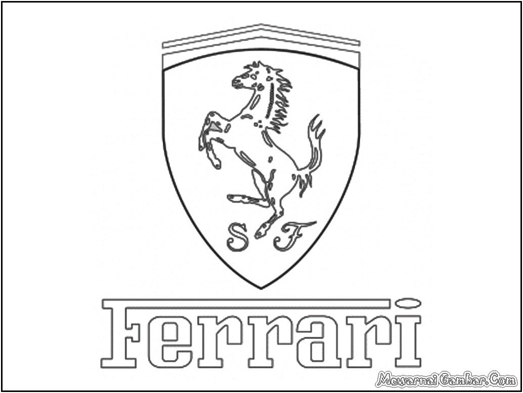 Ausmalbilder Fußball Zeichen : Ferrari Logo Coloring Pages Pojazdy I Loga Pinterest Skulptur