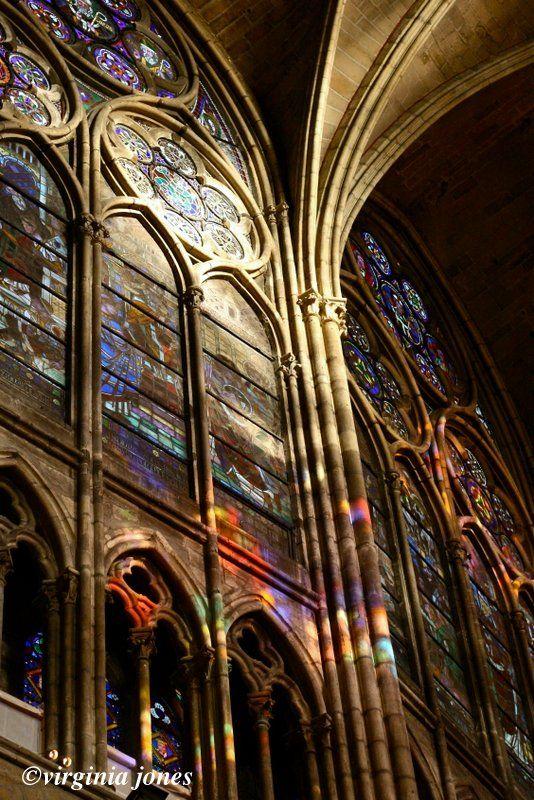 Paris Through My Lens Sunday Chuch Series Le Vitrail Reflet Saint Denis Paris Stained Glass Angel
