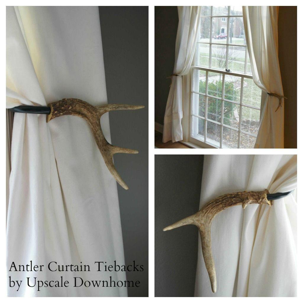 Antler Curtain Tie Backs We Have A Ton Of Deer Antlers I