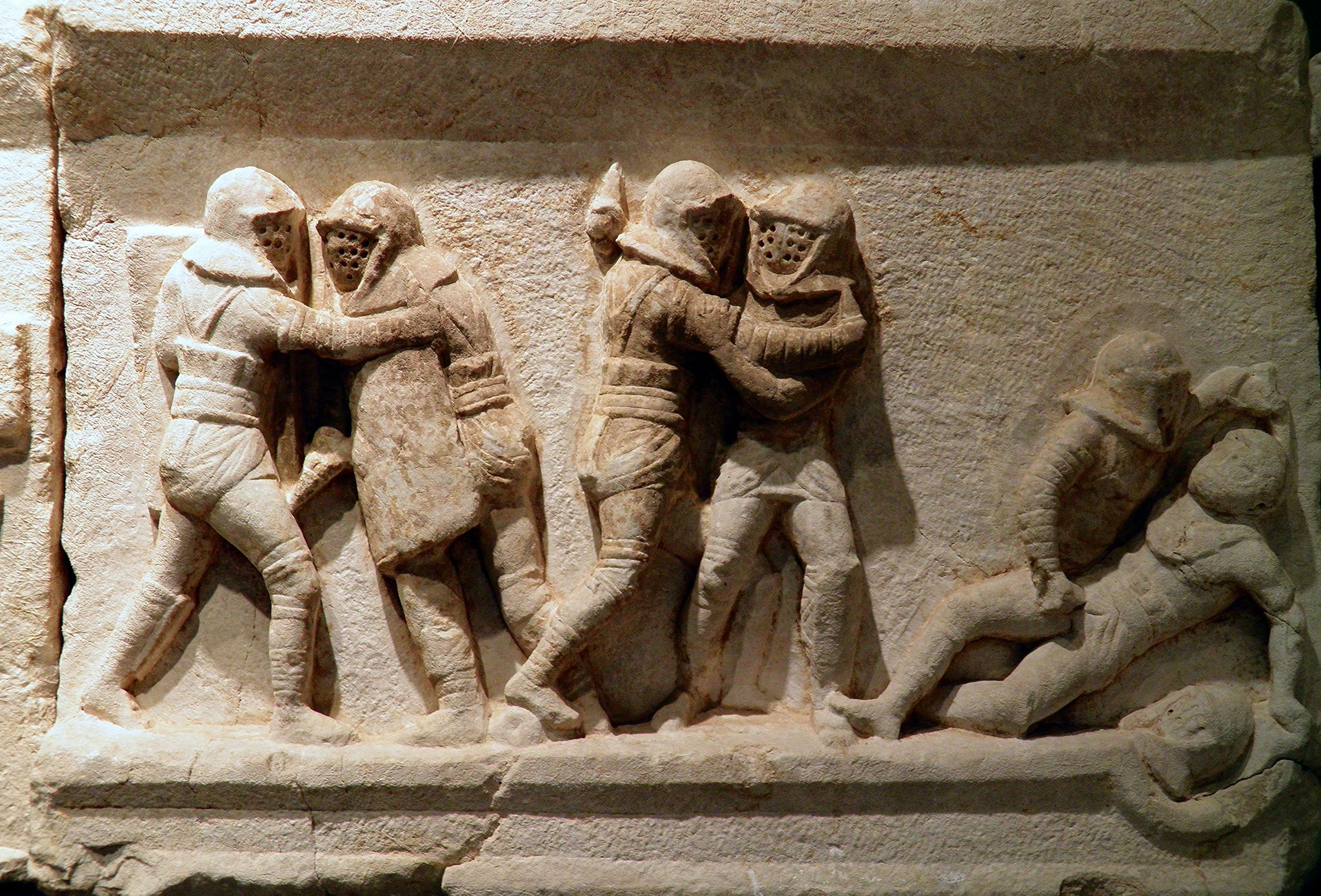 3a53268147bfd Gladiator frieze, 2nd - 3rd century AD, from the necropolis at Kibyra,  Burdur Museum