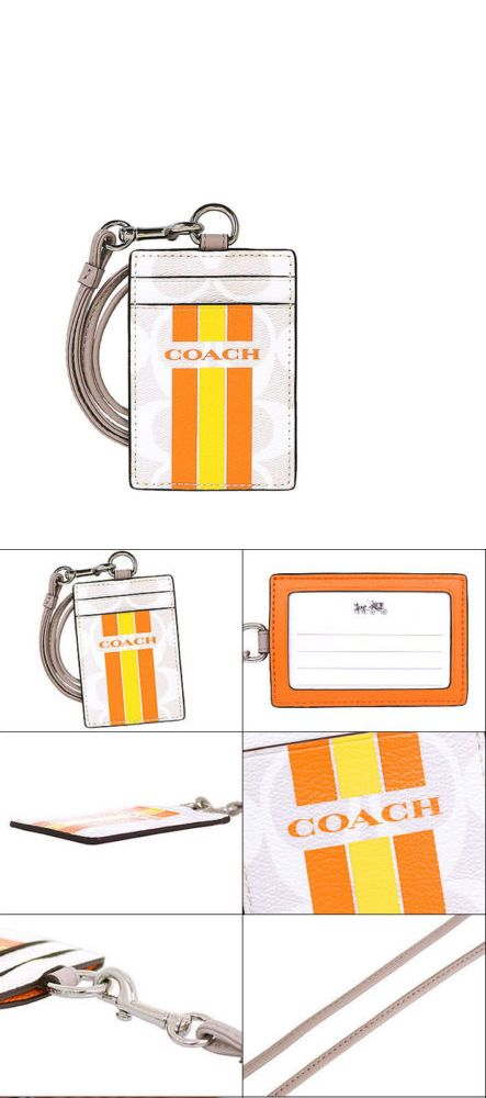 Other Womens ID and Doc Holders 169289: Nwt Coach Varsity Lanyard Id Case In Chalk Orange 1 F 66462 -> BUY IT NOW ONLY: $40.8 on eBay!