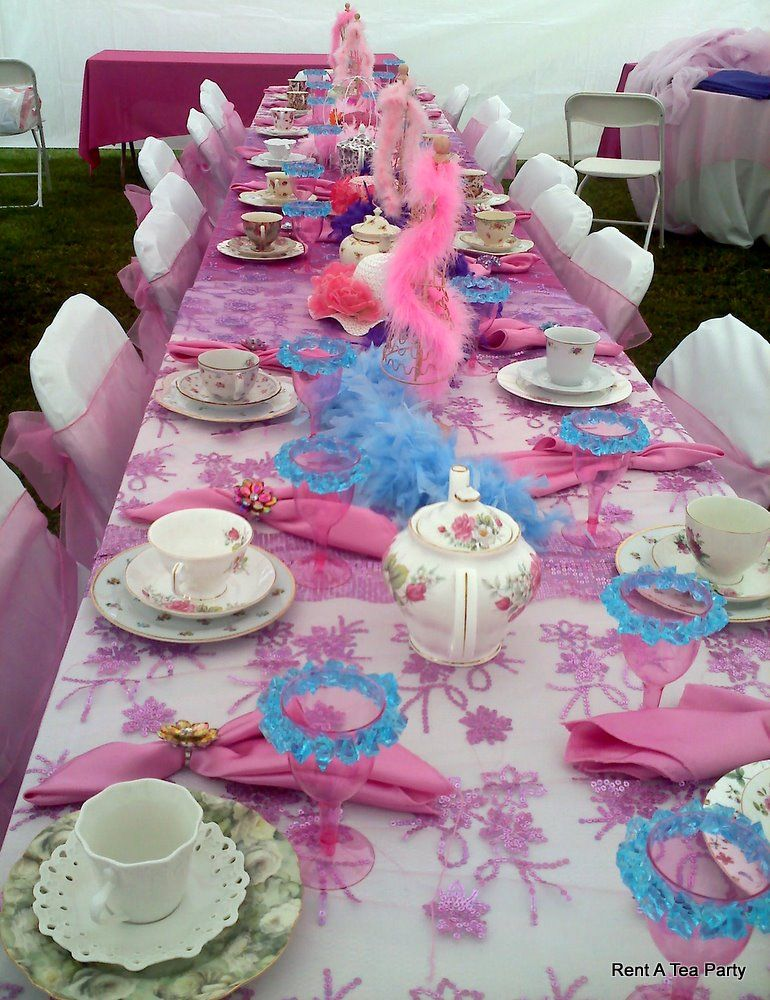 The princess party table. Purchase inexpensive tea sets and then ...