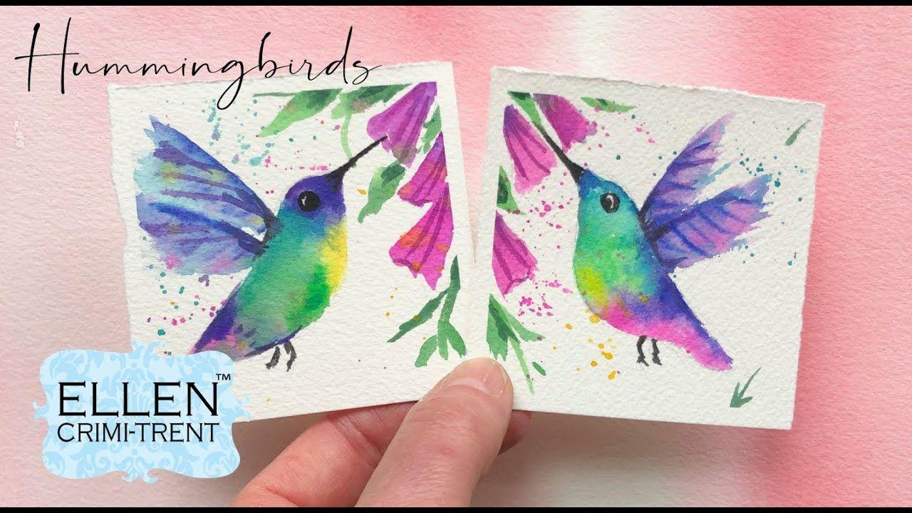 Watercolor Hummingbird painting/ Mini Monday Madness/ Easy
