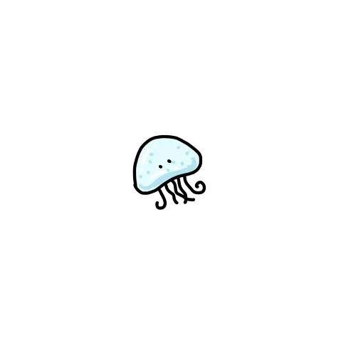 Jellyfish Cute Little Drawings Cute Easy Drawings Mini Drawings